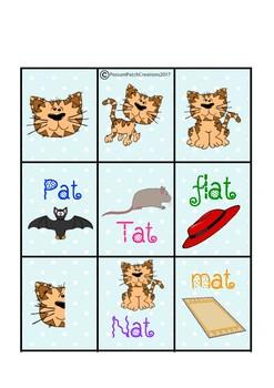 CVC 'Nat the Cat' Snap Card Game