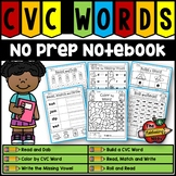 CVC No Prep Notebook