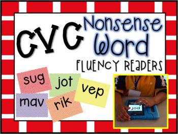 CVC Nonsense Word E-Book Fluency Readers