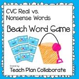 CVC Word Game- Beach Theme