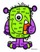 CVC Nonsense Word Mats { Halloween Themed Freebie!}