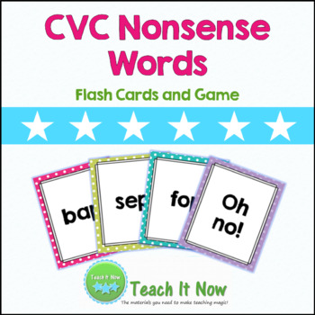 CVC Nonsense Words: Flashcards and Game