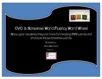 CVC, Nonsense Words and Short Vowel Sound Reading Wheel Practice