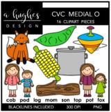 CVC (O) Words Clipart {A Hughes Design}