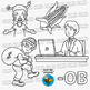CVC -OB Word Family Clip Art