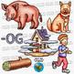 CVC -OG Word Family Clip Art