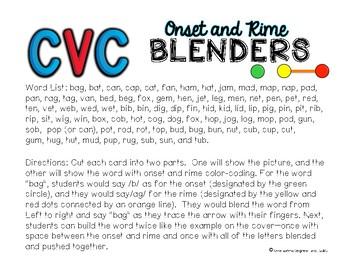 CVC Onset and Rime Blenders