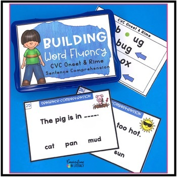 CVC Onset and Rime Building Word Fluency Activities