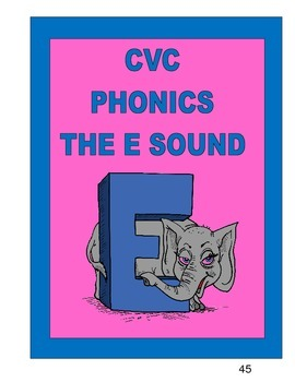 CVC PHONICS   THE  E   SOUND
