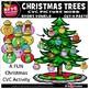 CVC PICTURE WORD (SHORT VOWELS) CUT-N-PASTE CHRISTMAS TREES