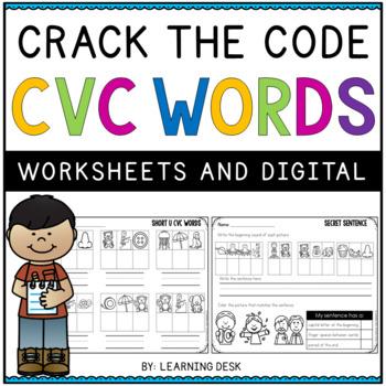 CVC Worksheets-CVC Activity (Secret Words)