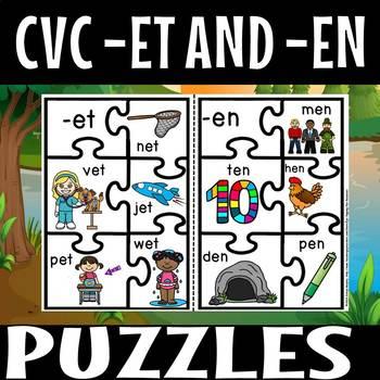 CVC PUZZLES-et and en family