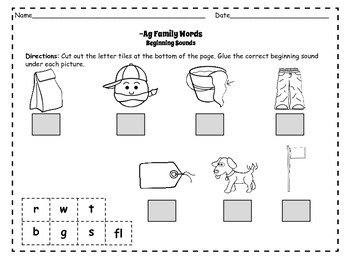 CVC Packet: Short Aa Rhyming Flashcards and Activities