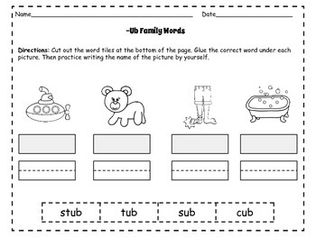 CVC Packet: Short Uu Rhyming Flashcards and Activities