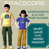 CVC Packet Worksheets & Center Activities