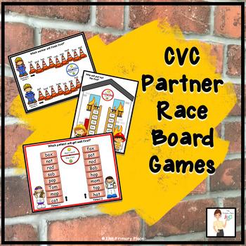 CVC Partner Race Board Games - Community Helpers Theme