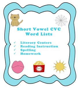 CVC Patterned Word Lists