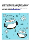 CVC short a Penguin Themed Write the Room