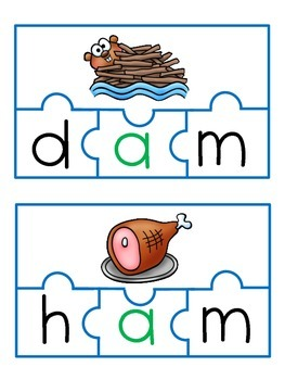 CVC Phoneme Blending Puzzles-Short 'A'
