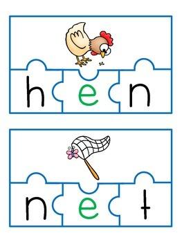 CVC Phoneme Blending Puzzles