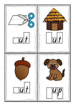 CVC Phoneme Frames - Short u words