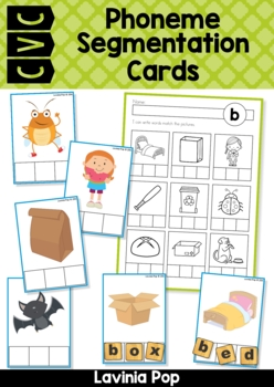 Cvc Phoneme Segmentation Cards By Lavinia Pop Teachers