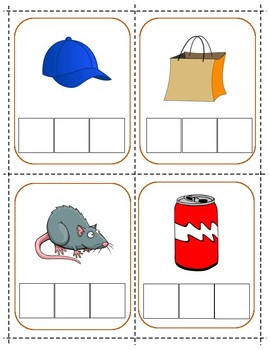 CVC Phoneme Segmentation and Spelling Picture Cards