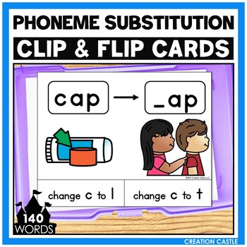 CVC Phoneme Substitution Clip Cards Center