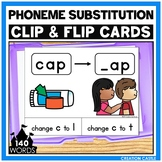 CVC Words Phoneme Substitution Clip Cards Center