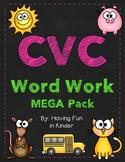 CVC Word Work/Phonemic Awareness Activities MEGA Unit