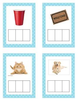 CVC Phonics Cards Sample