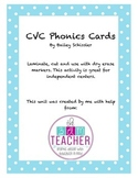 CVC Phonics Cards Sample