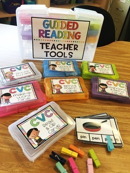 CVC Phonics Cards with REAL Photos BUNDLE {Guided Reading Word Work}