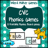 Phonics Games: CVC Games: Short Vowel Games with CVC Words
