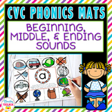 CVC Phonics Mats Beginning, Middle, & Ending Sounds