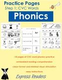 Phonics Practice Pages - CVC words