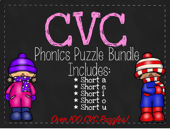 CVC Phonics Puzzle Bundle