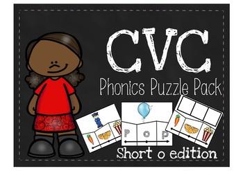 CVC Phonics Puzzle Pack {Short o edition}