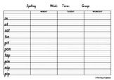 CVC Phonics Spelling Package 1