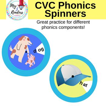 CVC Phonics Spinners