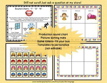 Picture Cards for Language Bundle | Speech Therapy | Final Consonants | Rhymes