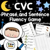 Space Themed Game for CVC Phrase and Sentence Fluency