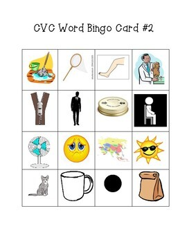 CVC Picture Bingo