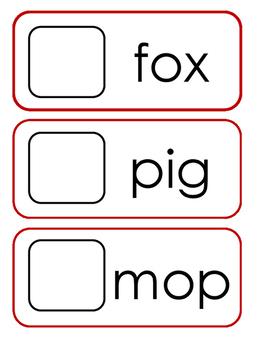 CVC - Picture Button Match