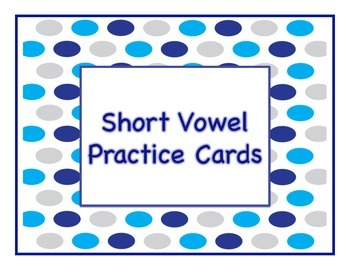 CVC Picture Cards- Middle Sound and Spelling Practice