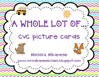 CVC Picture Cards {freebie!}