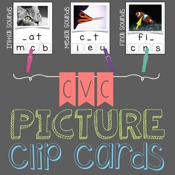 CVC Picture Clip Cards
