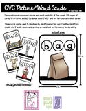 CVC Picture Word Cards Bundle (Initial, Medial, Final Sounds, 5 vowels)
