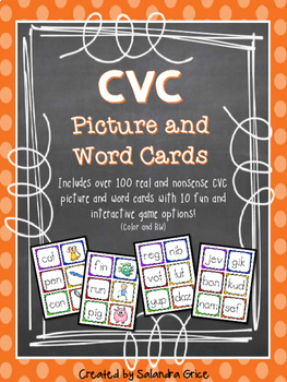 CVC Picture and Word Cards