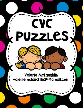 CVC Picture and Word Puzzles ~FREEBIE~